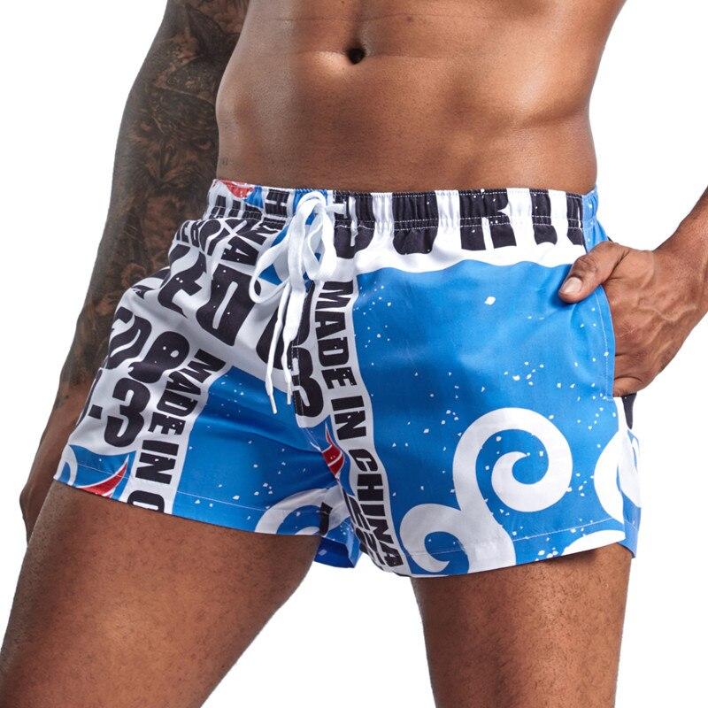 abcfce55d2b8 Nuevo traje de baño para hombre, pantalones cortos deportivos, pantalones  cortos de playa de verano ...