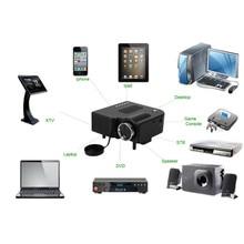 Мультимедиа СВЕТОДИОДНЫЙ Проектор HD Домашний Кинотеатр UC28 Мини Портативный Проектор Поддержка 1080 P HDMI av-в Видео VGA HDMI USB SD