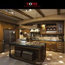 Заводская Прямая американская кухонная мебель из цельного дерева