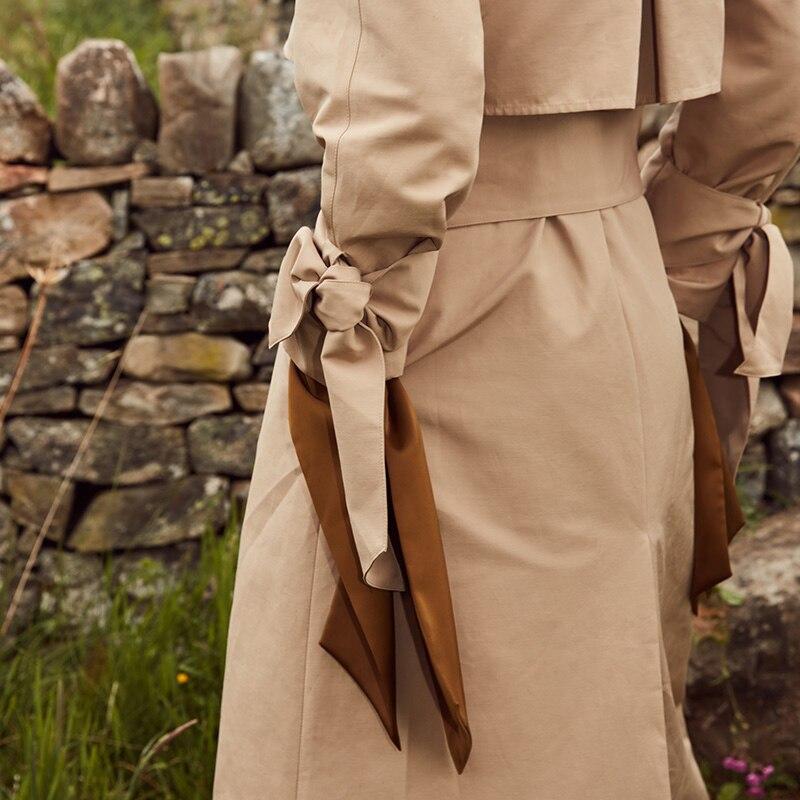 Vero Moda 19 new windshield design cuffs decorated british long trench coat | 318321508 21