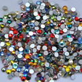 Free Shipping! 1440pcs/Lot, ss3 (1.3-1.5mm) Mixed Colors Flat Back Nail Art Glue On Non Hotfix Rhinestones