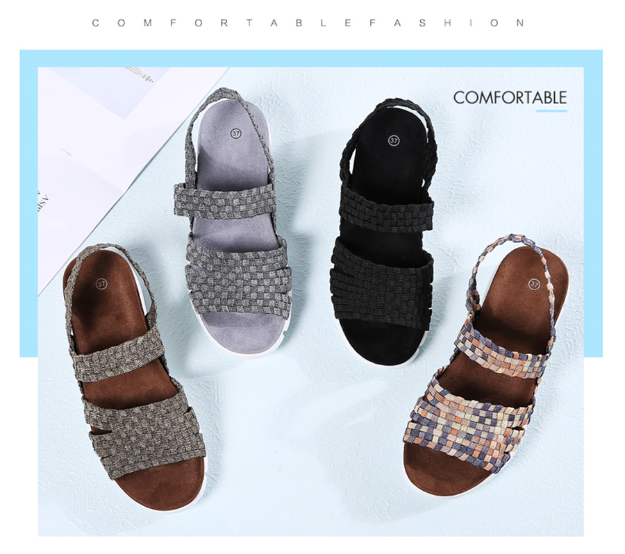 HTB1PXNFgruWBuNjSszgq6z8jVXaA STQ 2019 women flat sandals shoes women woven wedge sandals shoes ladies beach summer slingback sandals flipflops shoes 802