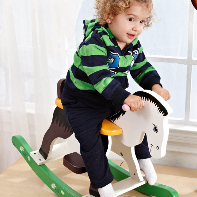 2013 fashion baby clothes spring male clothes green stripe children's clothing