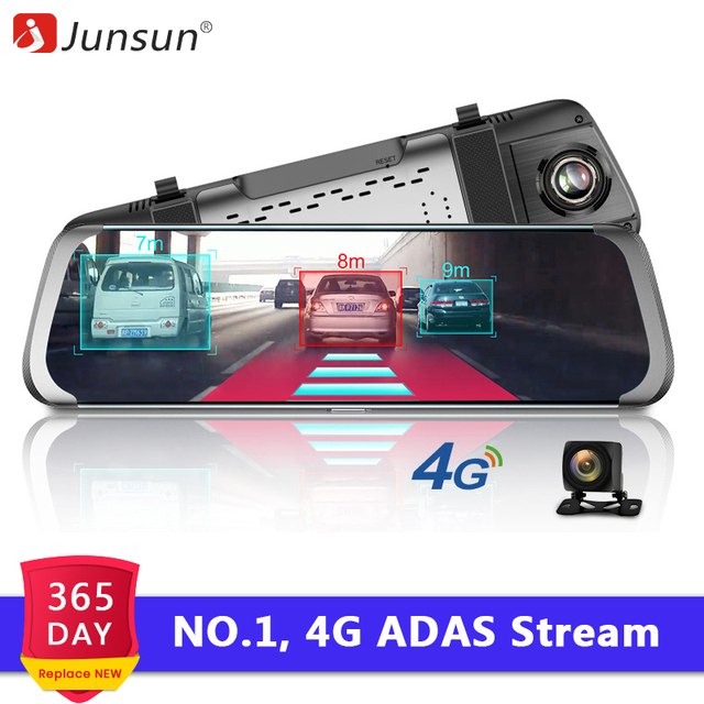 "Junsun A930 4G ADAS Car DVR Camera 10""Android Stream Media Rear View Mirror FHD 1080P WiFi GPS Dash Cam Registrar Video Recorder"