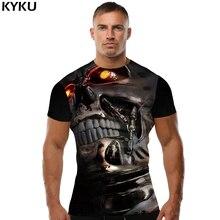 KYKU Skull T shirt Dark Clothes Funny Tops Skeleton Clothing Leisure shirts  Tshirt Men Print Top Tee Cool 3d T-shirt 2018