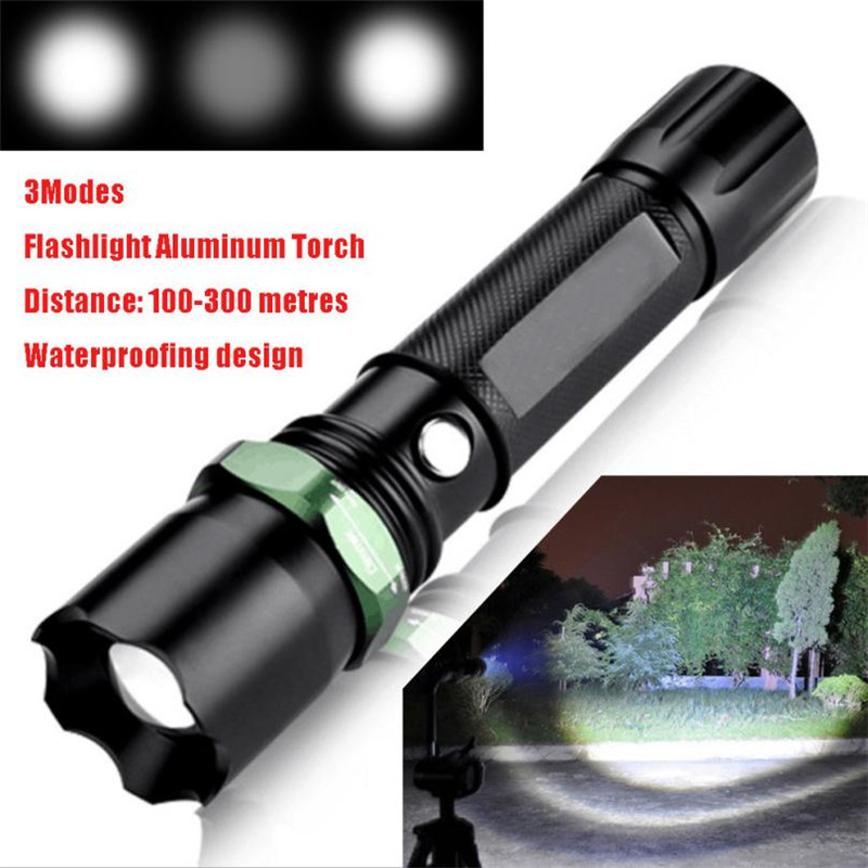 1PC Flashlight on Bicycle Bicycle Accessories 3000Lumen Q5 LED 3Modes Flashlight Aluminum Torch for Bicycle 2017 New o#2