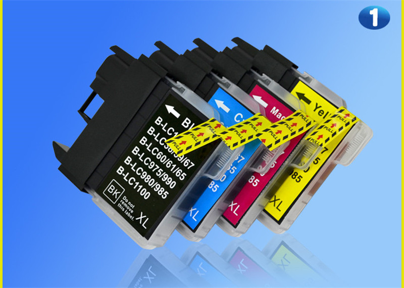 4PK Compatible For Brother LC985 LC 985 LC975 LC39 Ink Cartridges  MFC-930CDN MFC-935CDN MFC-J950DN MFC-J415W Printer Ink