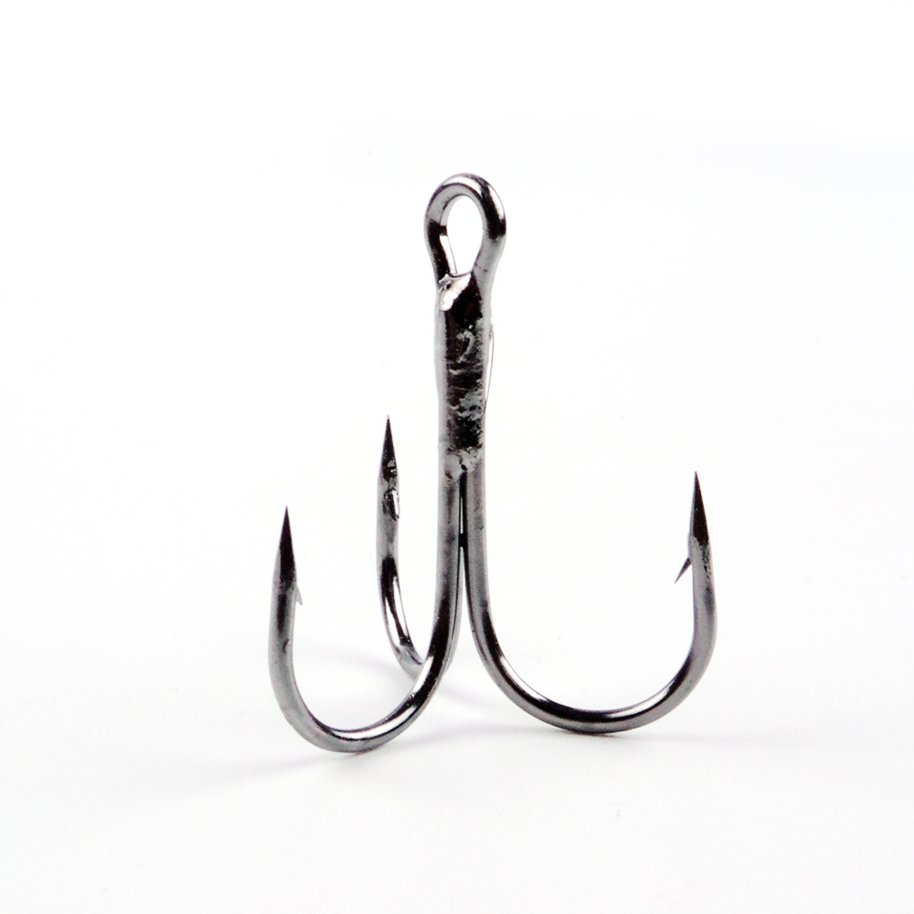 FISHKING Dacro Treble Hook 3/0 # 2/0 # 1/0 # 1 # -16 # Acciaio al carbonio Treble Hook Fishing Tackle Round Bent Treble Saltwater Bass