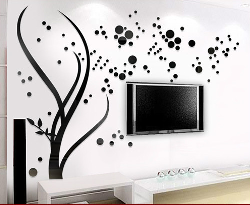 3d Acrylic Family Tree Wall Stickers Living Room Wall Art Decal Home