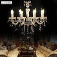 SHIXNIMAO Luxo Branco ligh vela lâmpada de cristal vela do Candelabro de Cristal Europeu 6Arm/8Arm/12Arm/15Arm lâmpada de Cristal freeship|lamp crystal|lamp luxurychandelier chandelier -