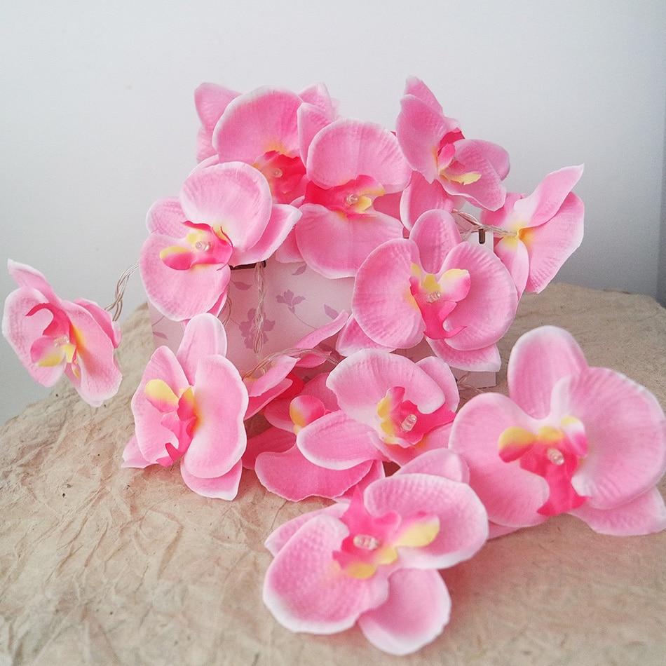 Nieuwigheid orchidee Fairy String Lights slinger, 4M 20 leds Fashion - Feestversiering en feestartikelen - Foto 3
