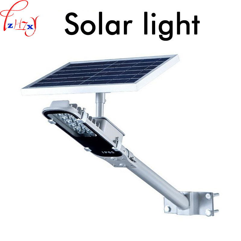 New LED solar lamp waterproof household polysilicon solar panels LED street outdoor wall pole lamp Lighting 3.7V/6.6A 1PC