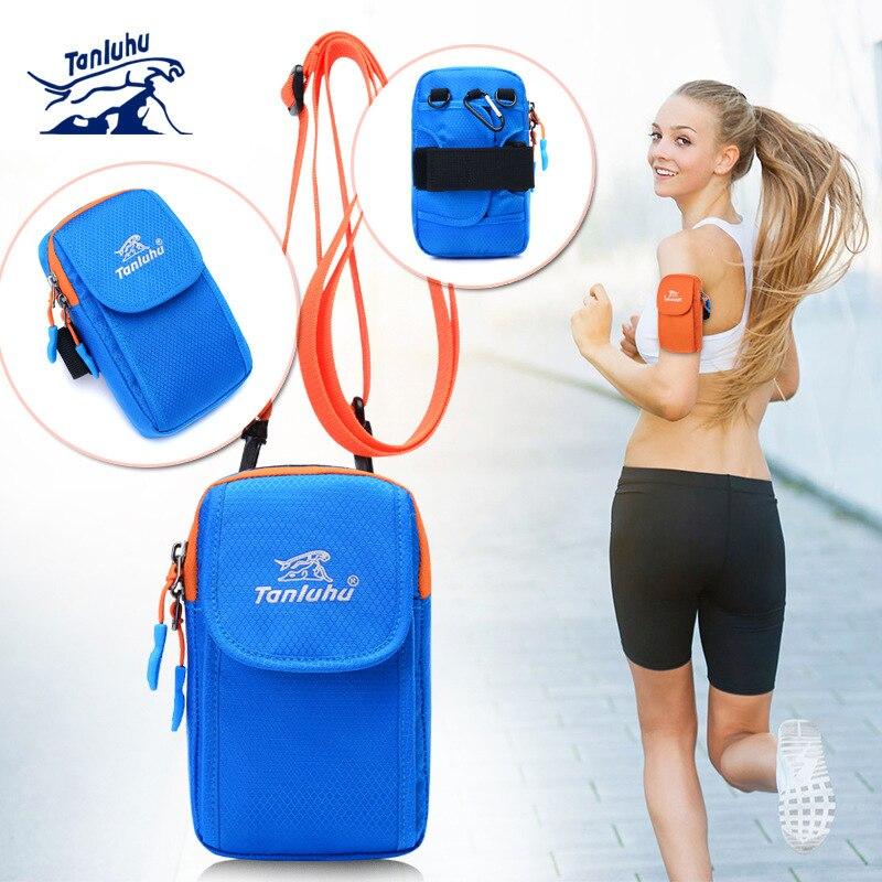 TANLUHU 367 Water-resistant 6 Inch Phone Arm Bag Men Women Running Jogging Cycling Sports Bag Shoulder Cross Waist Wrist Bag