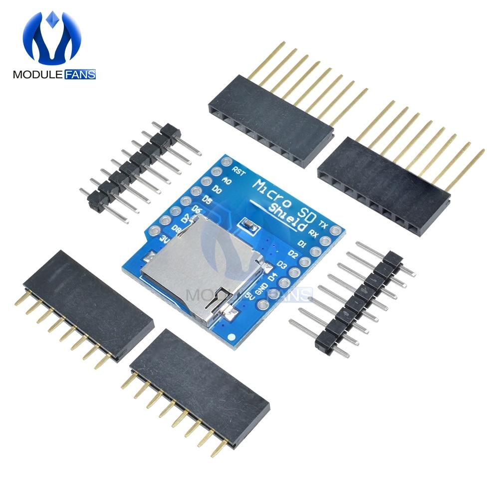 Micro SD Card Shield For WeMos D1 Mini TF WiFi ESP8266 Compatible SD Wireless Module For Arduino For WeMos D1 Mini