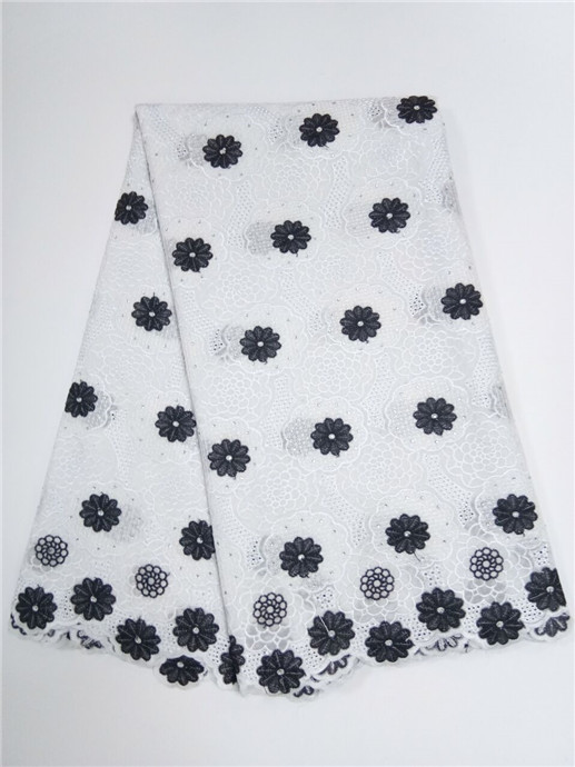 Latest Embroidered Nigerian Swiss Voile Lace Fabric In Switzerland High Quality African Lace Cloth Fabric For
