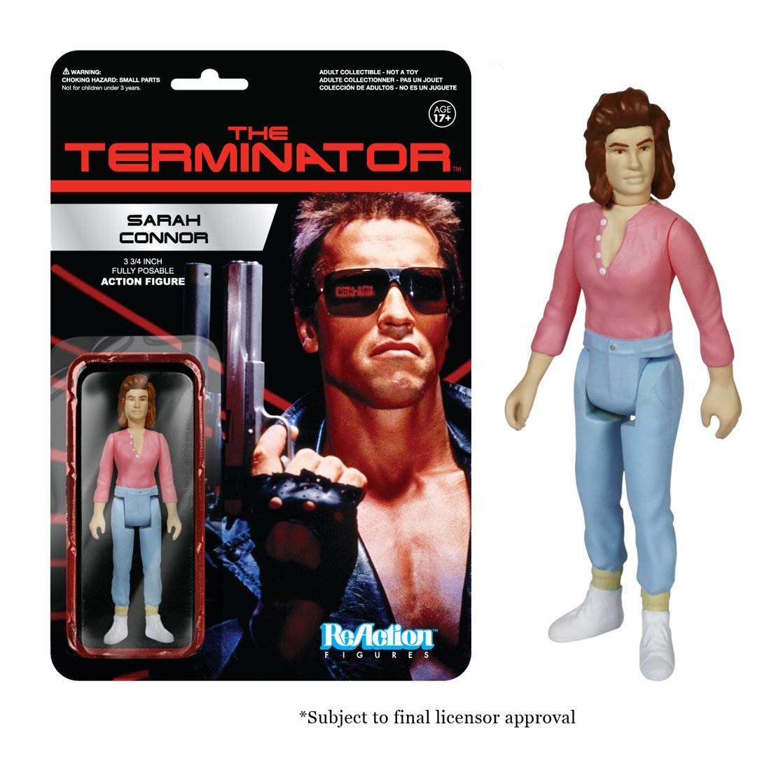 Funko <font><b>ReAction</b></font> <font><b>Figure</b></font> <font><b>The</b></font> <font><b>Terminator</b></font> - <font><b>Sarah</b></font> <font><b>Connor</b></font> Vinyl <font><b>Action</b></font> <font><b>Figure</b></font> Collectible Model Toy with Original Box