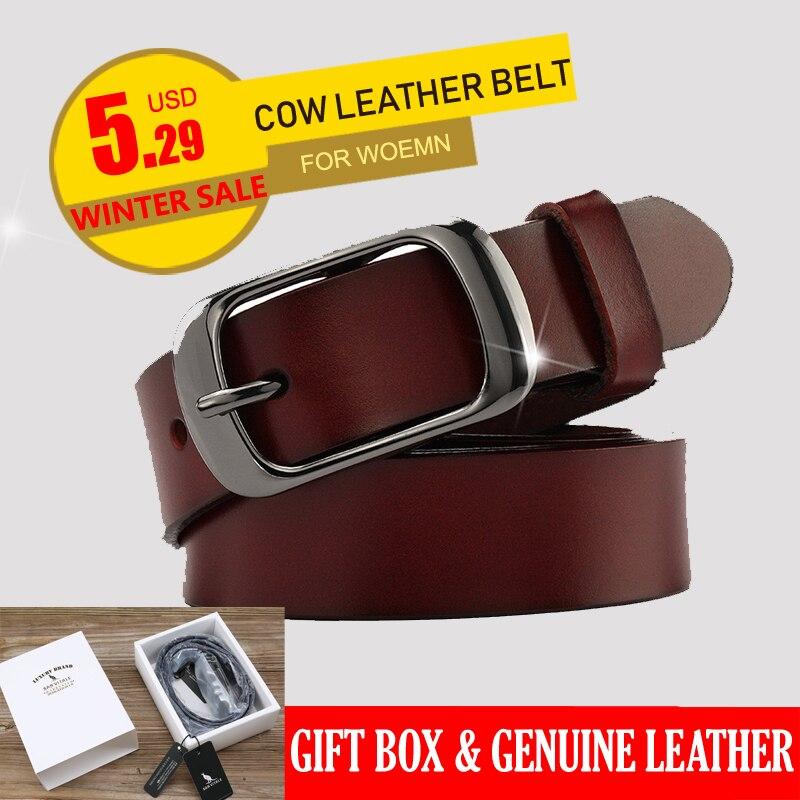 SAN VITALE, nuevo diseñador de moda las mujeres cinturones de marca de cuero genuino correas mujer cintura Pin hebillas de lujo Vintage para Vaqueros