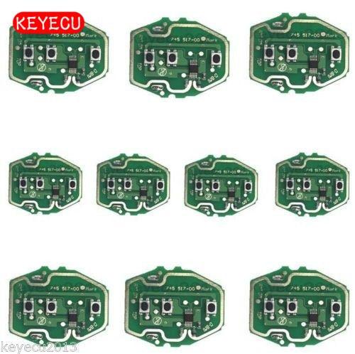 Keyecu 10PCS * 3 כפתור שלט רחוק המעגלים עבור BMW EWS מערכת 1995 2005 315/433MHz ללא מפתח מעטפת אין סוללה