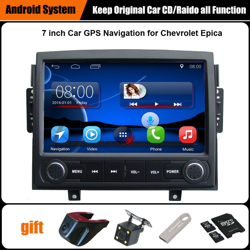 Upgraded Original Android 7.1 Car multimedia Player Car GPS Navigation Suit to Chevrolet Epica 2006-2010 Support WiFi