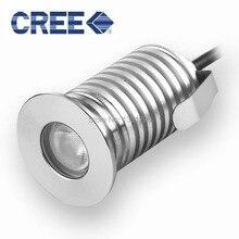 3W IP67 עמיד למים CREE LED חיצוני קרקע גן נתיב סיפון רצפת מחתרת נקבר מנורת Inground Uplight שקוע ספוט אור