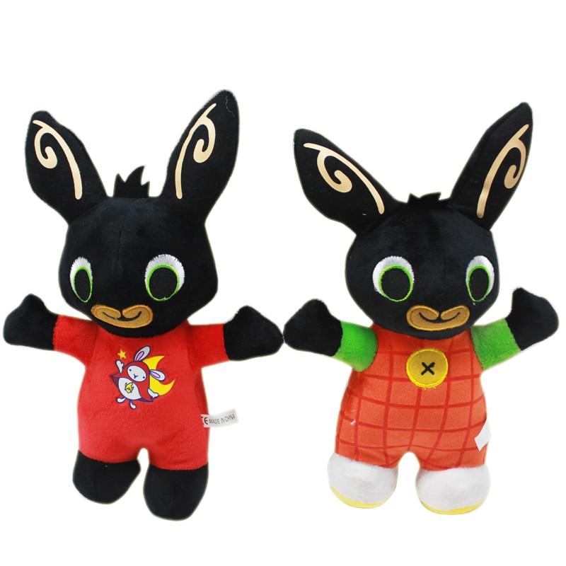 35cm Bing Bunny Plush Toys Doll Stuffed Bing Bunny Doll Rabbit Animal Soft Bing's Friends Toy For Children Kids Christmas Gifts