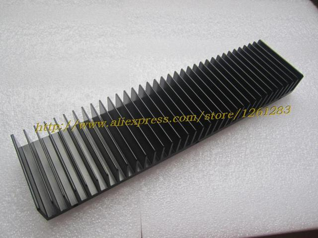 1pcs 245mm+60mm+25mm Full Aluminum E Heatsink For Power Amplifier DIY Radiator