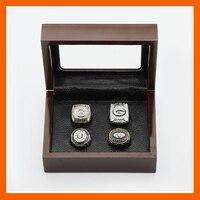 Великолепные наборы кольцо с деревянный Коробки Реплика Бейсбол Медь высокое качество 4 шт./упаковка Green Bay Packers чемпионат кольцо