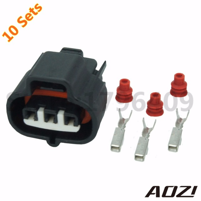 10 sets kits auto terminal 3 pin connector 6189 0099 car parts rh aliexpress com Waterproof Wire Connectors OEM Wiring Harness Connectors