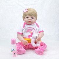 Fashion 23 inch baby rebirth doll silicone reborn baby realistic princess doll toy children's day gift