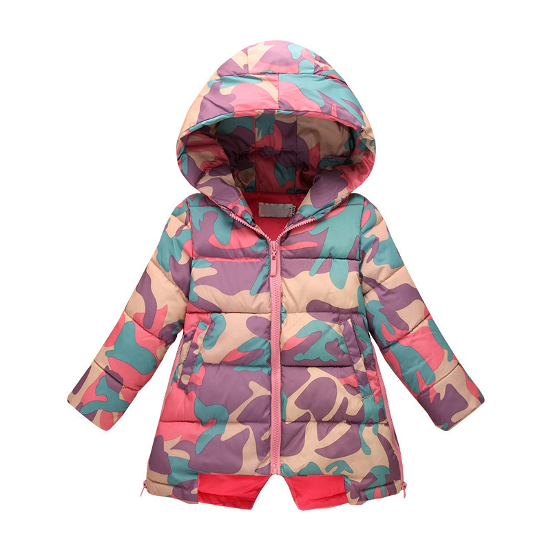 2016 Girls Winter Coat Children Parka Jackets Costume Kids Hooded Camouflage Ski Suit Child Snowsuit Outerwear Clothing Padded 2016 china factory russia winter parka padding jackets trousers overcoat clothing sets for boys ski suit reima baby snowsuit