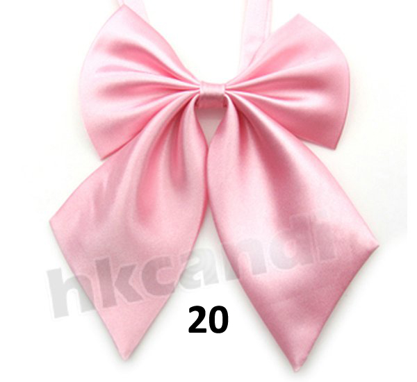 Adjustable Candy Color Female Children Bow Tie Clothing Accessories Polyester Silk Bowtie Brand New Girl Pink BC020