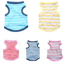 New Pet Dog Clothes Summer Stripe Vest T-shirt Puppies and Cats Cheap chihuahua Casual Vests XS-L