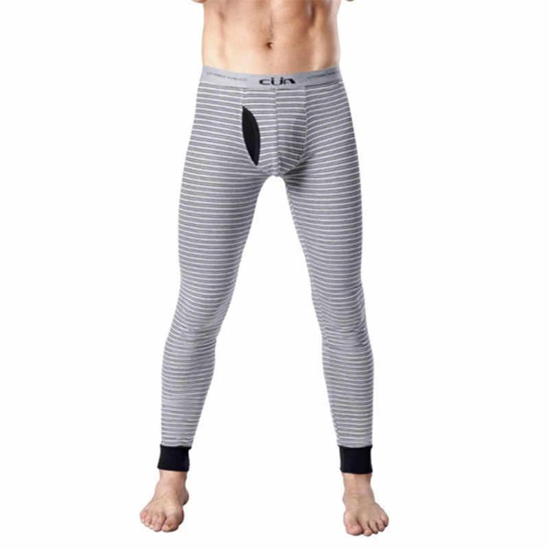 Мужские кальсоны, мужской пояс, теплые штаны, горячие Формирователи, мужские полосатые брюки, утепленное белье, нижнее белье, CML155005