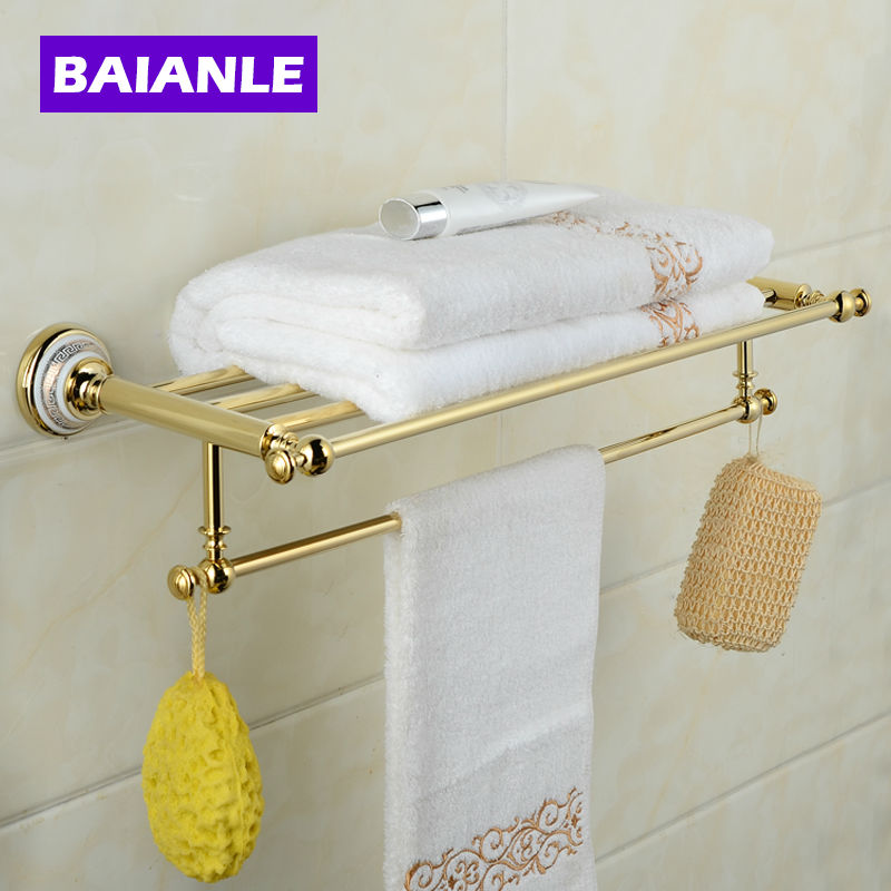Ceramics Copper Chrome Finish Towel Holder Towel Rack Bathroom Accessories Towel Bars fully copper bathroom towel ring holder silver