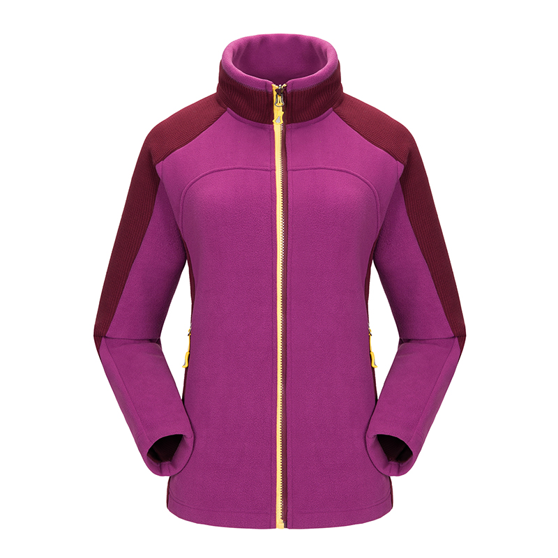 Ladies Full Zip Long Sleeve Outdoor Sport Climbing Trekking Coat Hiking Camping Polar Fleece Jacket Women Warm Casaco Feminino