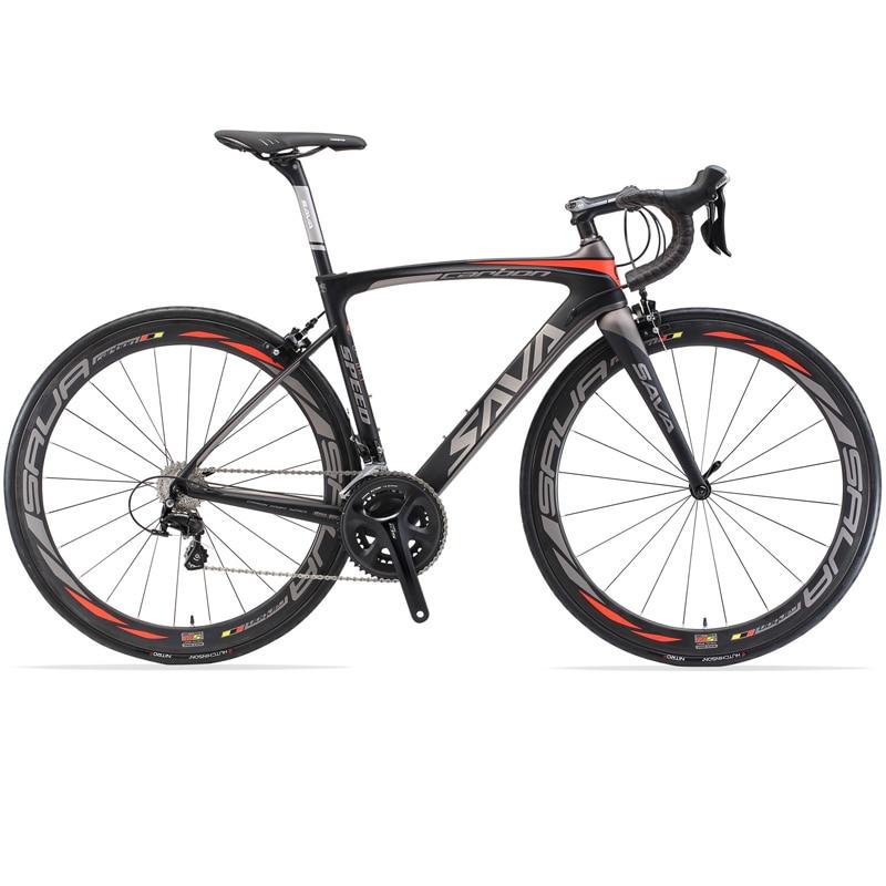 Полностью карбоновый дорожный велосипед SAVA 700C, дорожный велосипед 8,4 кг, полный карбоновый каркас/колесные наборы/вилка, оснащение SHIMANO 105 ...