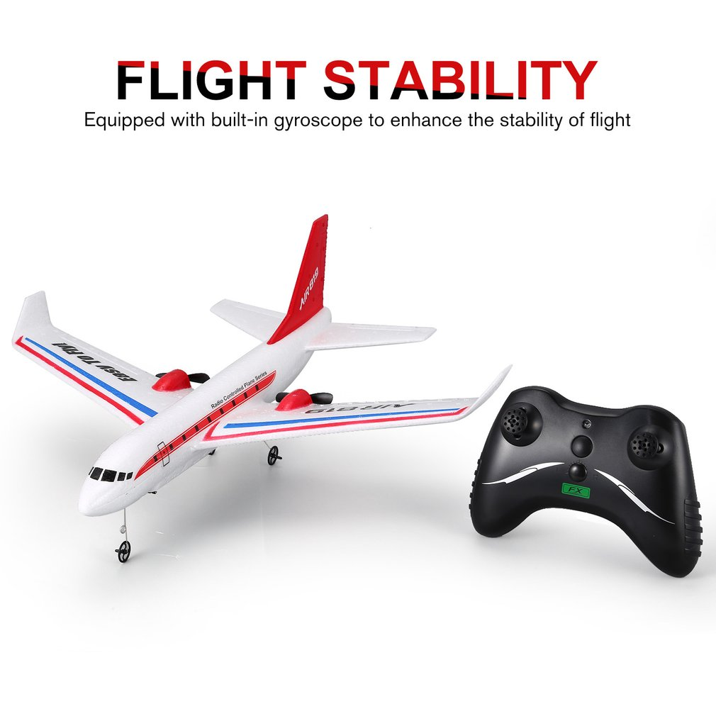 FX-819 2.4G 2CH 400mm Wingspan Lightweight EPP DIY RC Plane Gl1der Airplane Airliner Passenger Aircraft TF Kids Toys(China)
