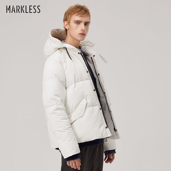 Markless Unisex Duck Down Jacket 2018 Winter Jackets Men 90% White Duck Down Thick Warm Hooded Parka doudoune homme YRA8304M