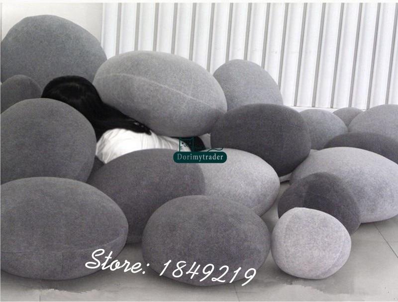 Dorimytrader diy cobblestone natural almofada 6 pçs
