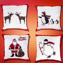 2019 Newest Christmas Cushion Case Cover Cotton Linen Sofa Car Home Decor