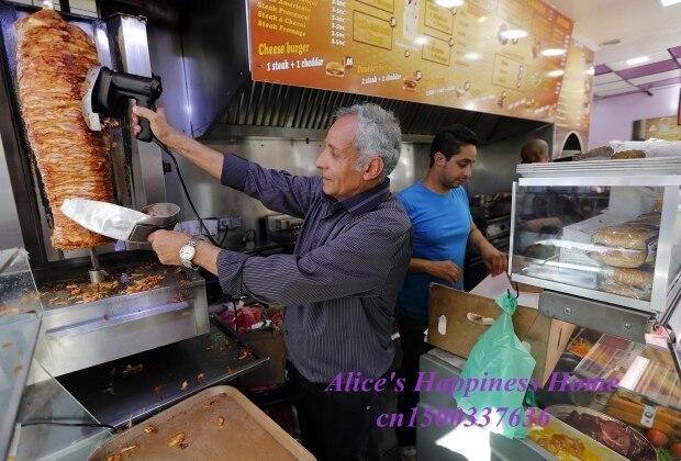 JIQI 220VTop qualité doner kebab scilence électrique shawarma machine à découper la viande
