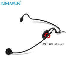 KIMAFUN KM-4068 Portable Headset Microphone Wired Condenser Mic Universal For Loudspeaker For Tour Guide Teaching Lecture Speech(China)