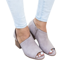 2019 Europe Spring/Autumn New Women Boots Ankle Riding Boots Peep Toe Square Heel Zip Fashion Sexy Shoes Woman Plue Size 34-43 mesuoto spring autumn round toe faux leather zip square heel women ankle fashion boots shoes woman top size 14