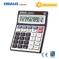 OS 9812VC 12 Digit Office Calculator Colored Electronic Calculator Solar Battery General Computer Calculating Handheld Gift