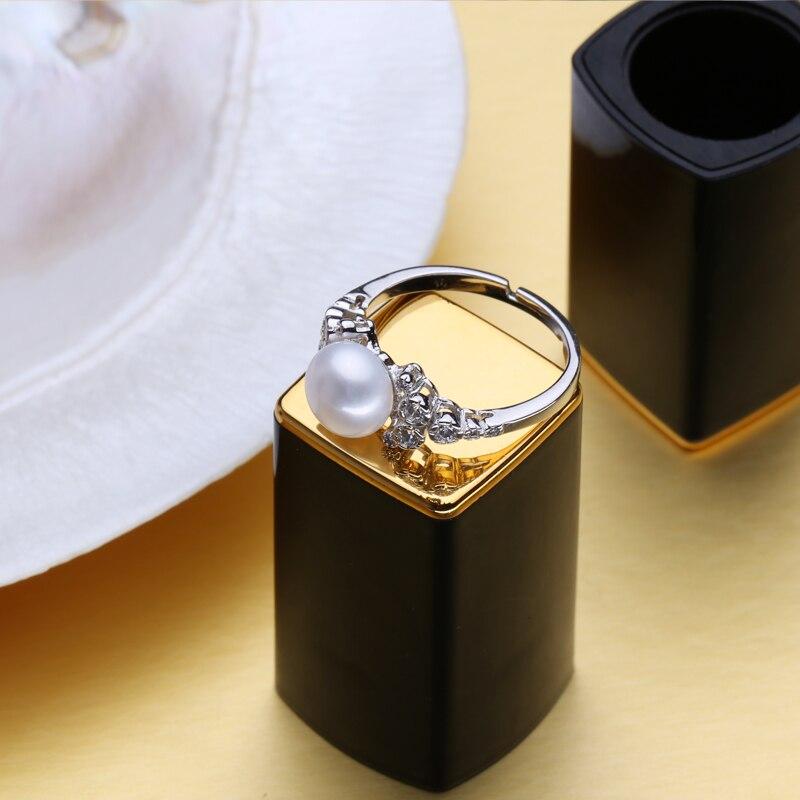 FENASY förlovningsring, naturliga pärlringar för kvinnor, - Fina smycken - Foto 4