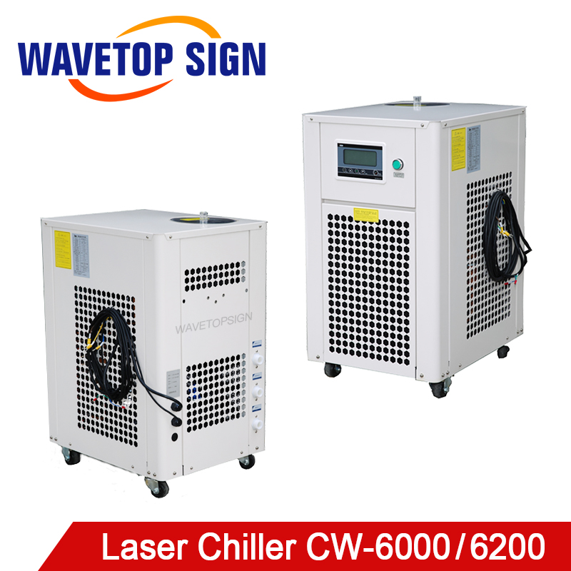 WaveTopSign CW-6000 CW-6200 CO2 RF Tube Laser Chiller For CO2 Laser Engraving Cutting Machine Cooling 100W 150WCO2 RF Tube Laser