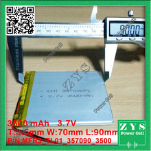 Embalaje de seguridad (Nivel 4) 357090 3.7 V 3500 mAh Batería de polímero de Litio con la Junta de Protección Para Tablet PC U25GT