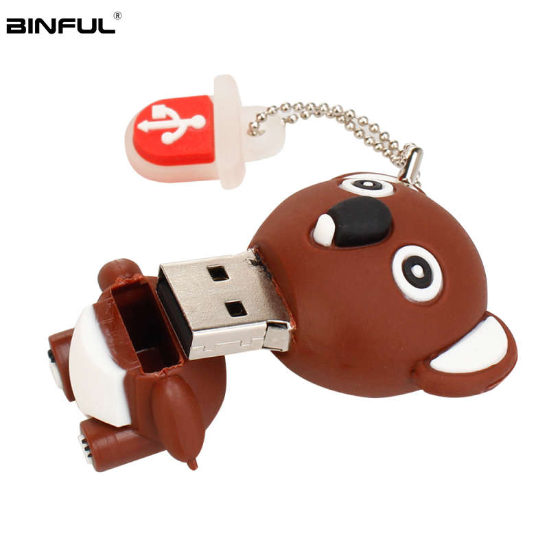 Image 5 - Pen Drive 32gb Cartoon Pink Pig/Monkey/Elephant/Koala Usb Flash Drive 64gb 128gb 16gb 8gb 4gb Pendrive Best Gift Free Shipping-in USB Flash Drives from Computer & Office