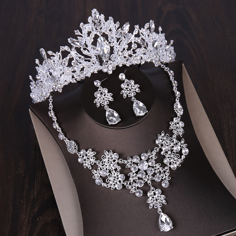 dd9369385f Youfir Bridal Austrian Crystal Necklace and Earrings Jewelry Set Gifts fit  with Wedding Dress-in Jewelry Sets from Jewelry & Accessories on  Aliexpress.com ...