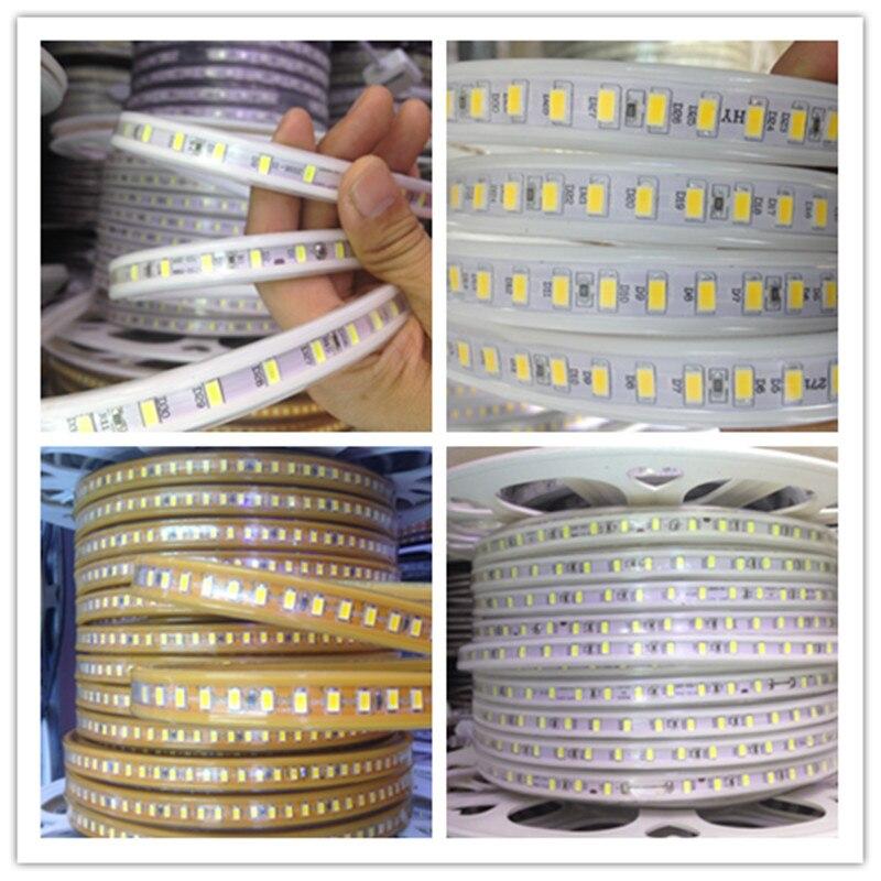 New 5630 LED Tape Light 120led m Indoor Decoration Diode 1m 3m 5m 10m Flexible LED Strip Lightings 220V